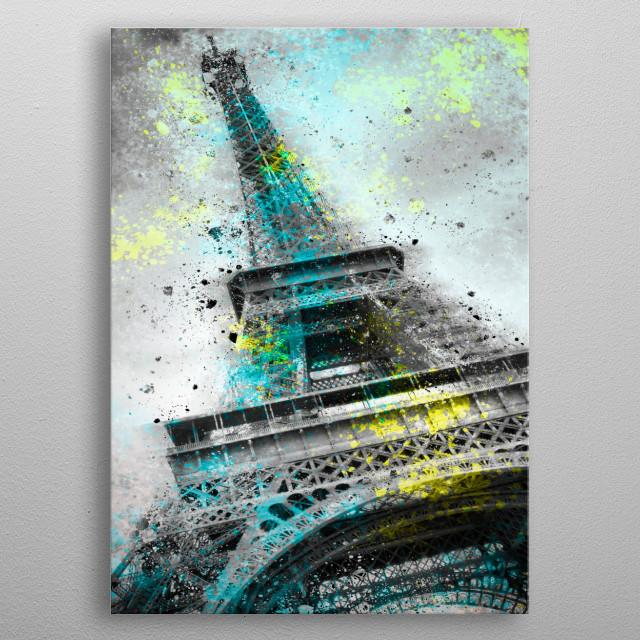 City-Art PARIS Eiffel Tower metal poster