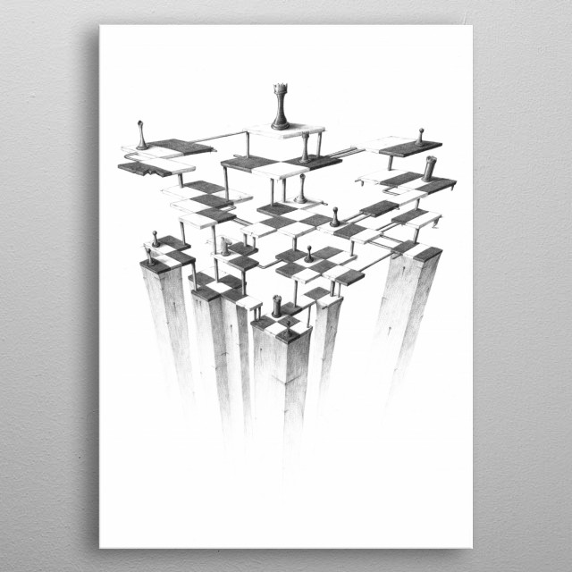 chessboard metal poster