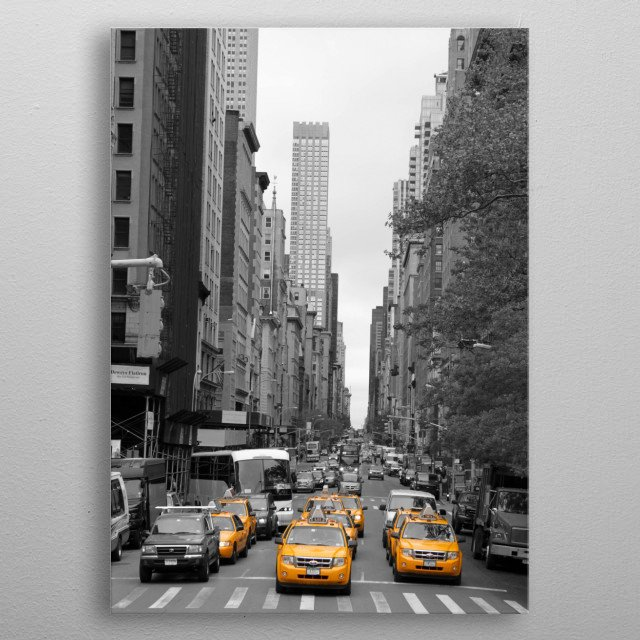 New Yorks Yellow Army metal poster