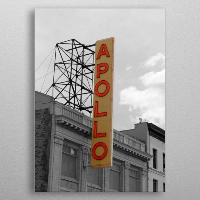 The Apollo Theater Harlem metal poster