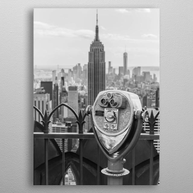 Top Of The Rock - New York metal poster