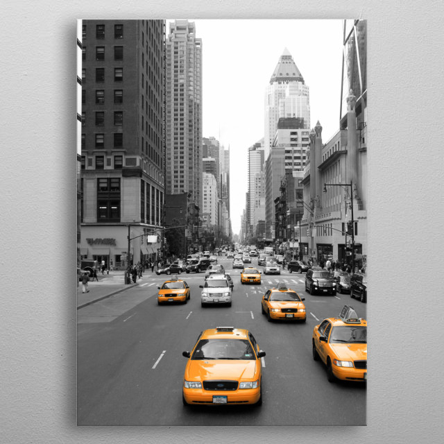 New Yorks Yellow Army 2 metal poster