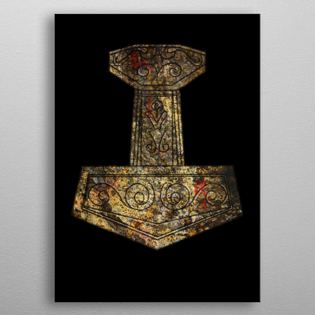 Mjölnir - Thor's Hammer metal poster