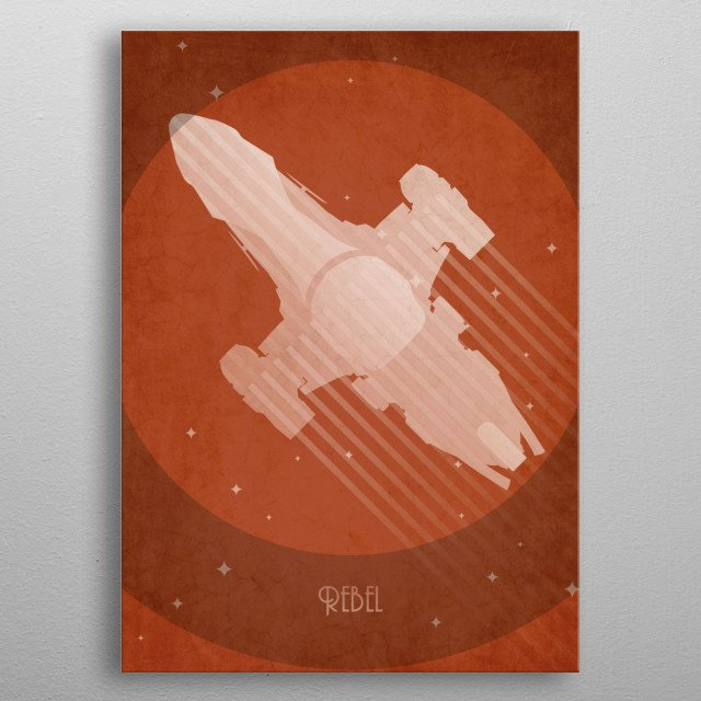 Firefly Serenity inspired art deco poster metal poster