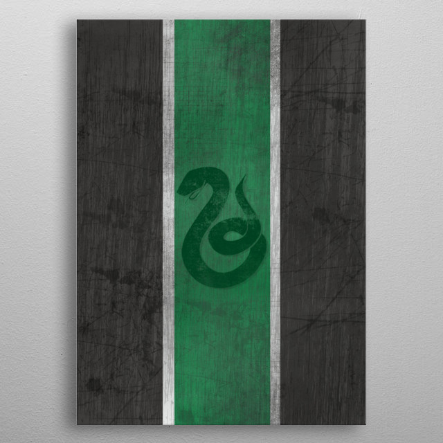 Slytherin inspired metal poster