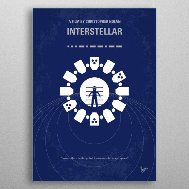 No532 My Interstellar minimal movie poster  A team of explorers travel through a wormhole in space in an attempt to ensure humanity's surviva... metal poster
