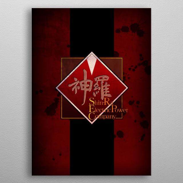 Final Fantasy VII - Shinra company metal poster