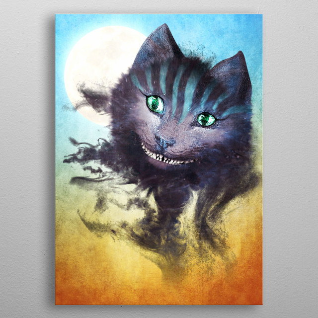 Cheshire Cat metal poster