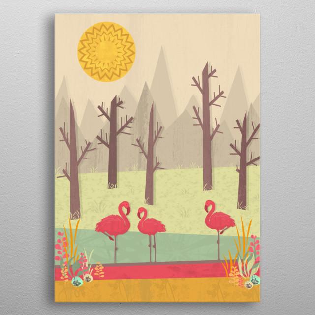 A colorful landscape illustration :) metal poster