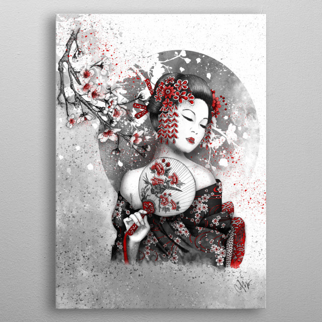 Title: Under the flowers metal poster