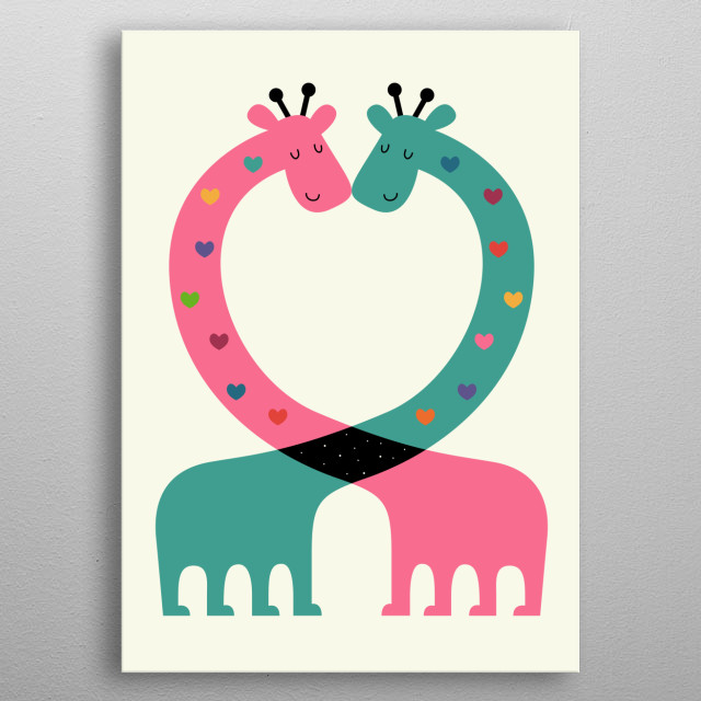 Love With Heart - Love the life you live, live the life you love. metal poster