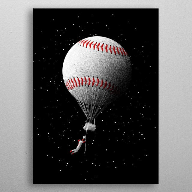 Flyball metal poster