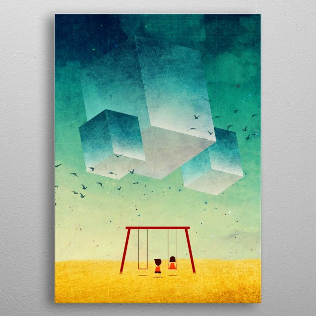 They're Coming (The Cubes) metal poster