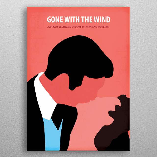 Gone With The Wind metal poster