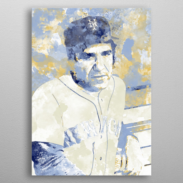 """""""When you come to a fork in the road, take it."""" - In memory of the great Yogi Berra (1925-2015) metal poster"""