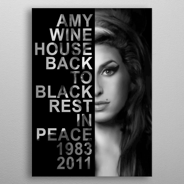 Tribute Portrait of the talented English singer, Amy Winehouse. metal poster