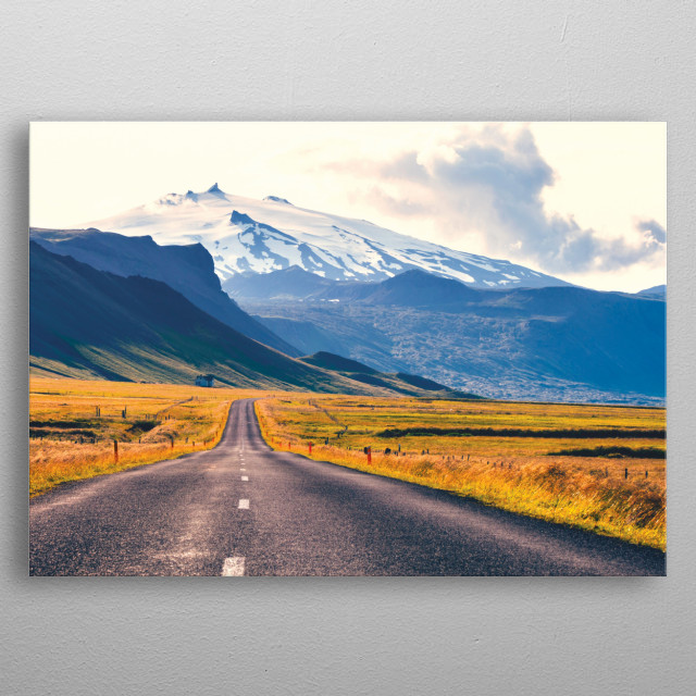 The Road Back Home - Icelandic Beauty metal poster