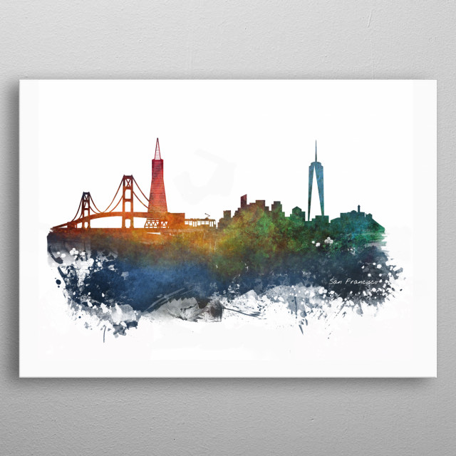 High-quality metal print from amazing Skyline City collection will bring unique style to your space and will show off your personality. metal poster