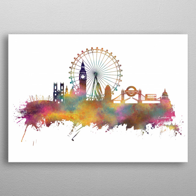 London skyline metal poster