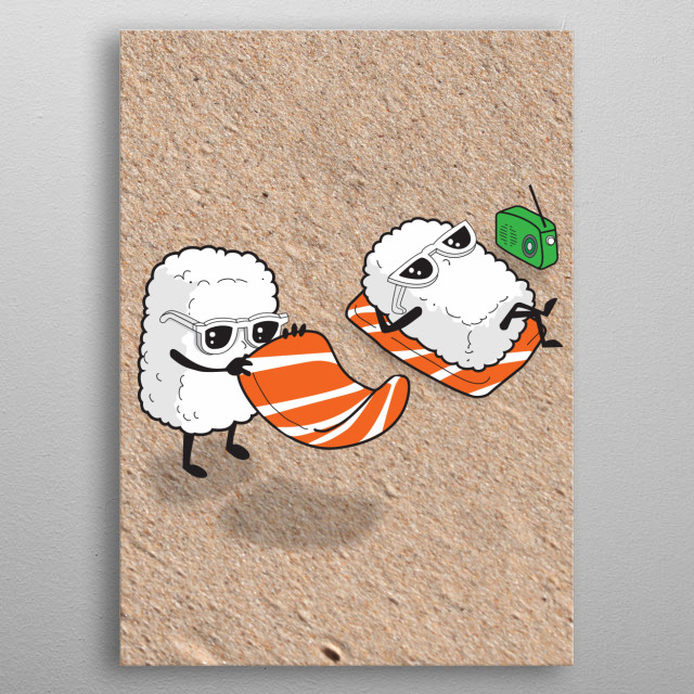 Sushi-sun metal poster