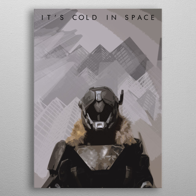 It's Cold in Space. metal poster