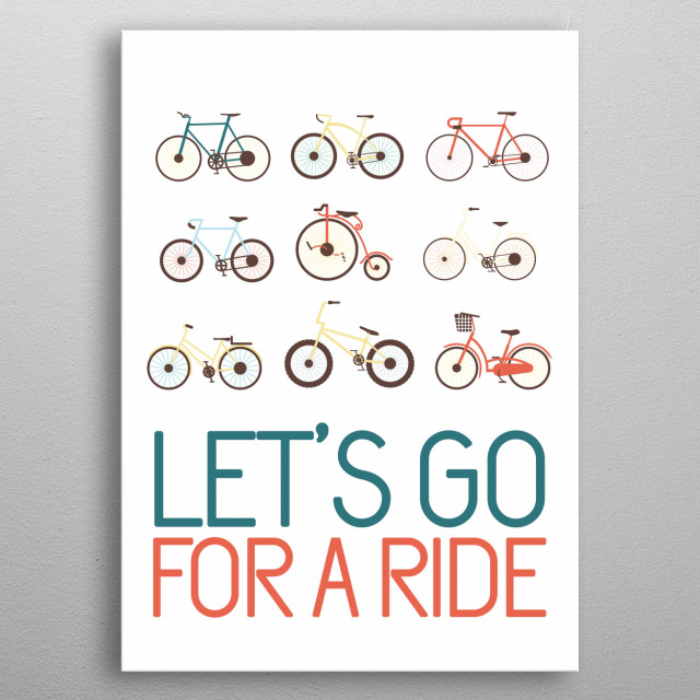 Let's go for a ride! metal poster