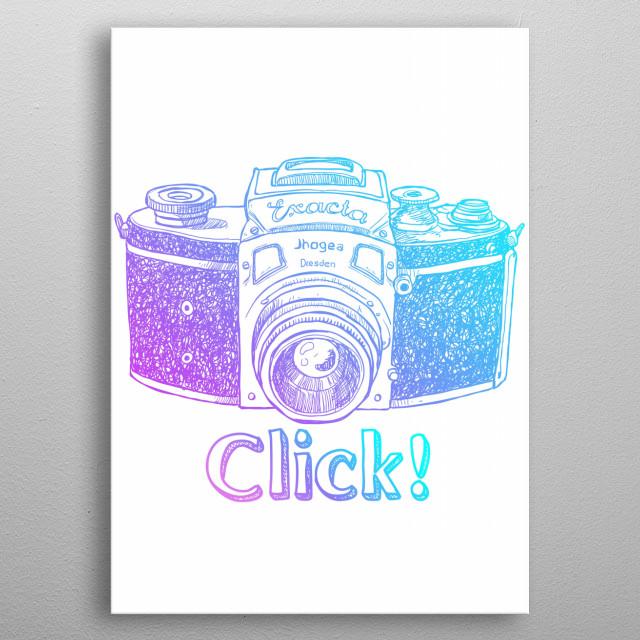 Click! metal poster
