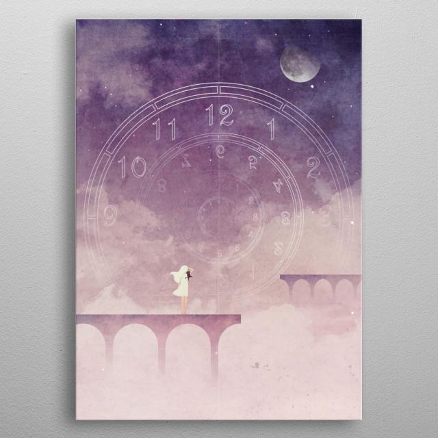 Time Portal metal poster