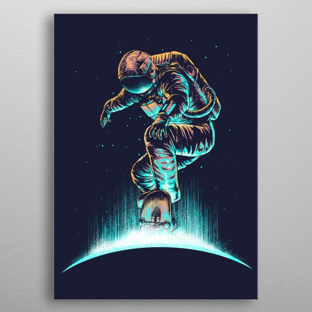 Space grind metal poster