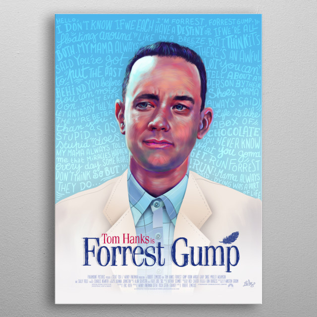 Forrest Gump  metal poster
