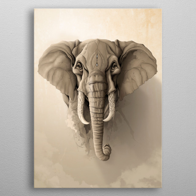 Wild Animals serie. metal poster