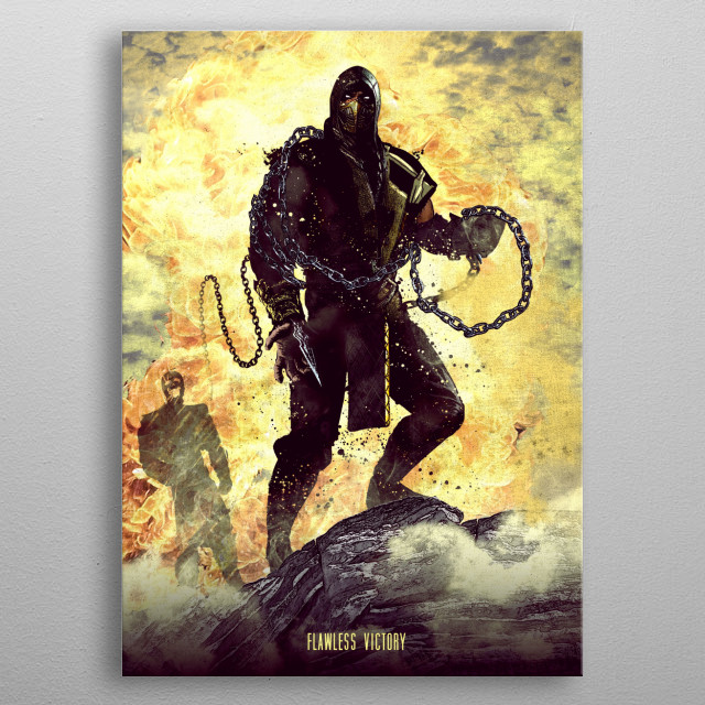 Flawless Victory metal poster