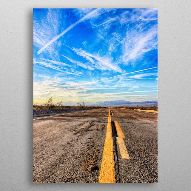 Sunrise on Historic Route 66 metal poster