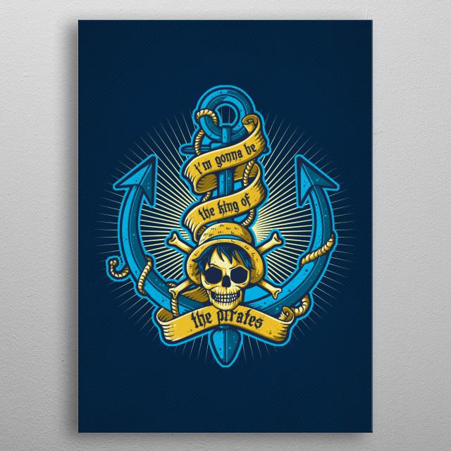 King Of Pirates metal poster