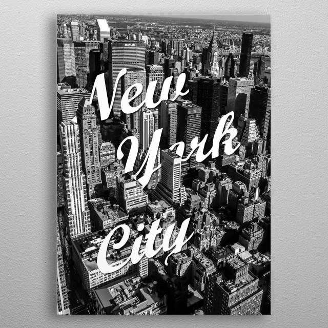 New York City metal poster