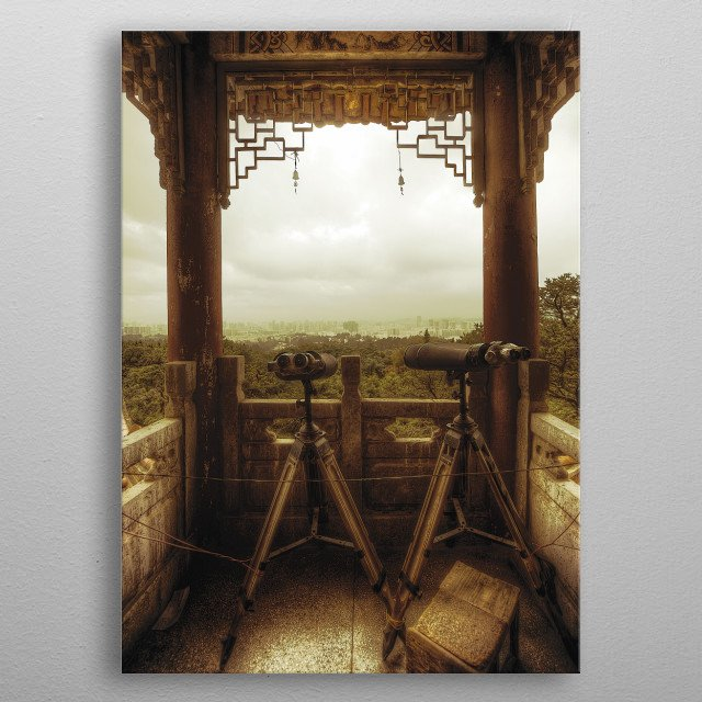 The Lookout - View of Kunming, provincial capital of Yunnan, southern China. metal poster