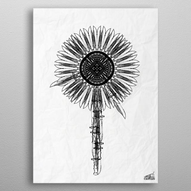 Flower Knife metal poster