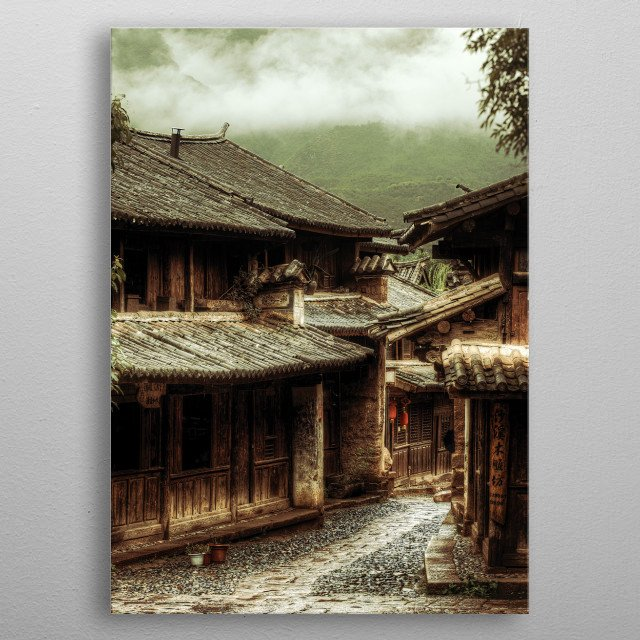 Mists of Shaxi metal poster