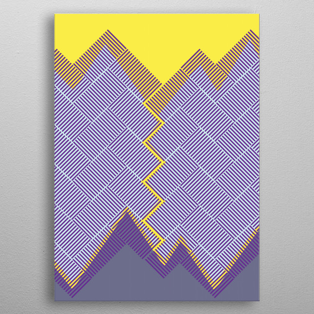 Op Art Storm in the Mountains metal poster