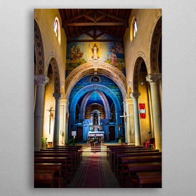 Church metal poster