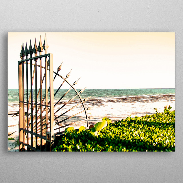 Gateway toward the beach metal poster
