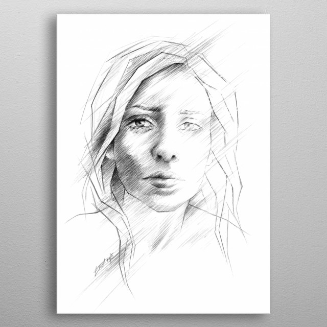 What if I was right? | Graphite pencil sketch metal poster