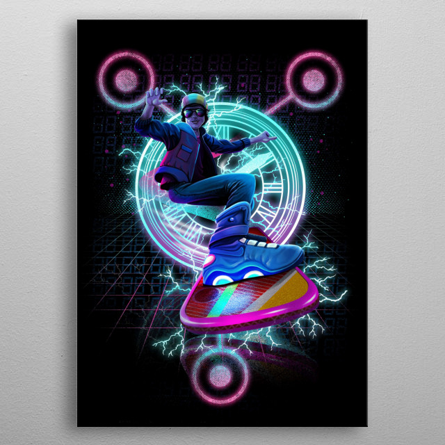 Marty McFly metal poster