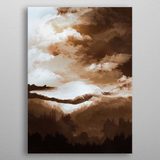 White mountains II metal poster