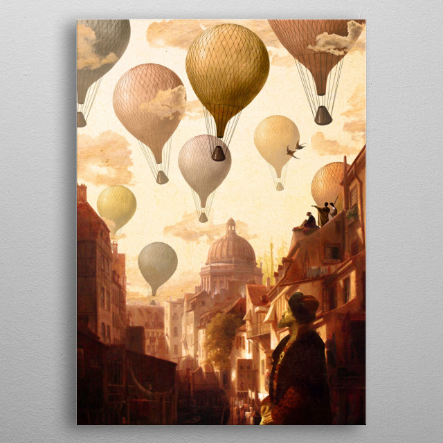 Voyage to the Unknown metal poster