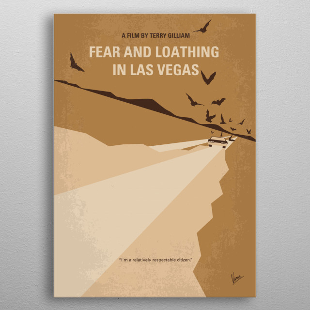 No293 My Fear and loathing Las vegas minimal movie poster  An oddball journalist and his psychopathic lawyer travel to Las Vegas for a series... metal poster