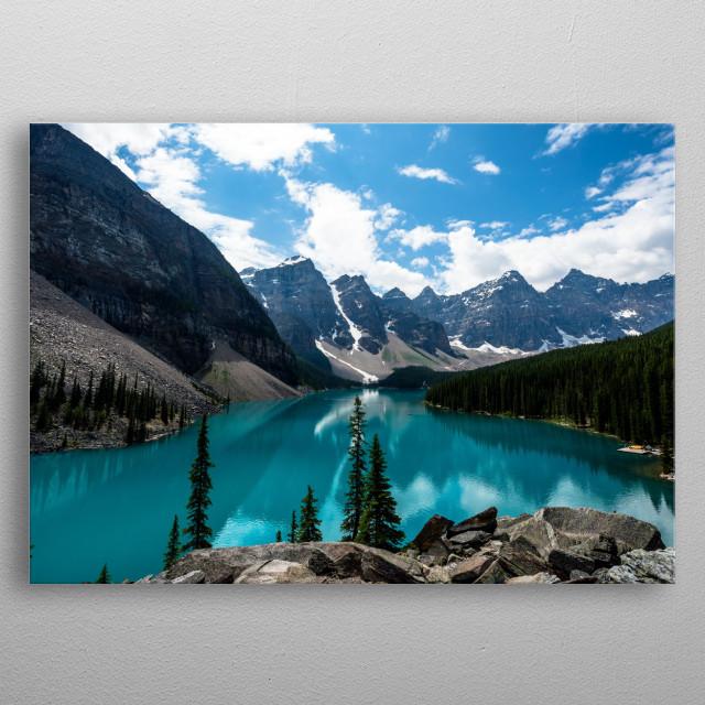 4K Image of an open lake view metal poster