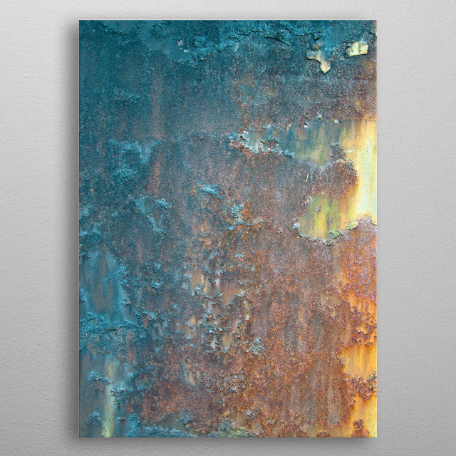 High-quality metal print from amazing Rusty Metal collection will bring unique style to your space and will show off your personality. metal poster
