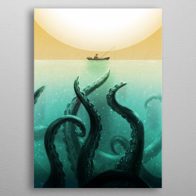 Be careful what you fish for...  metal poster