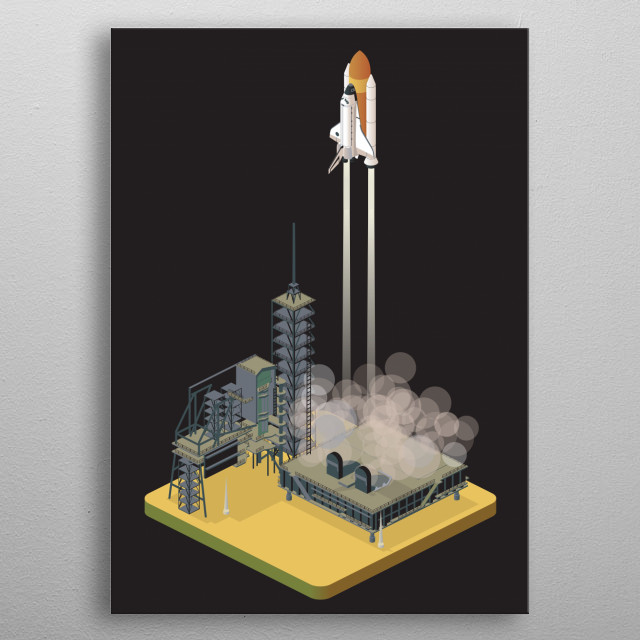 liftoff metal poster